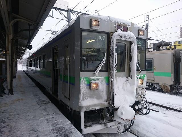 余市へ向かう電車