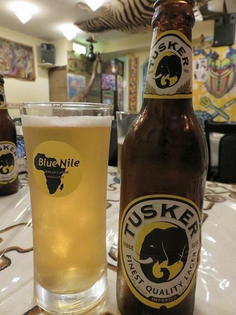 中目黒のエチオピア料理店「クイーン・シーバ」で飲んだケニアのビール「タスカー」