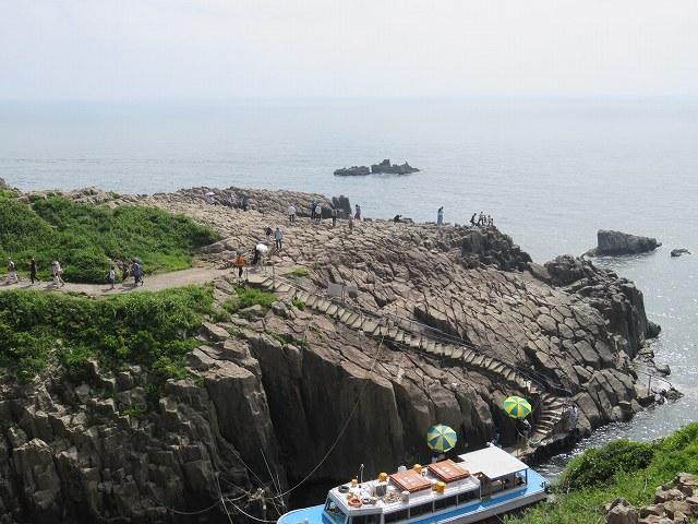 福井県東尋坊の遊覧船