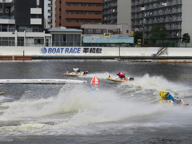 平和島競艇場の第1ターンマーク