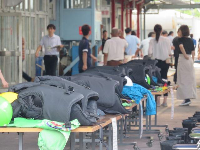 戸田競艇場ペアボートの準備