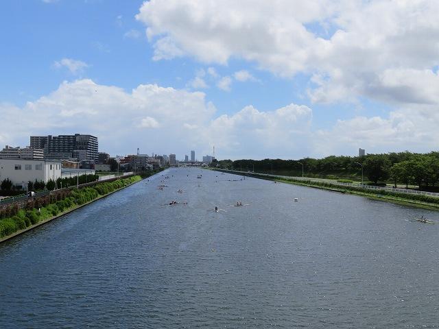 戸田競艇場の反対側の水面