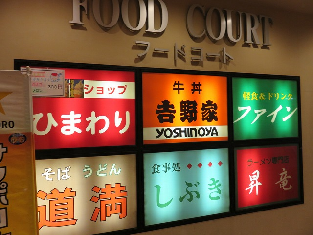 戸田競艇場3階フードコート入り口