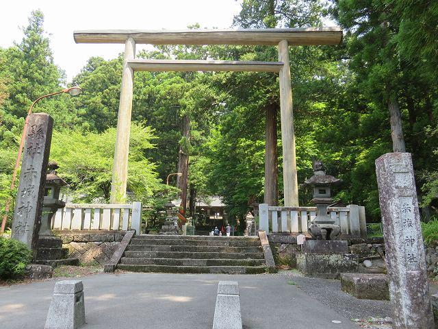 三夜沢赤城神社の鳥居