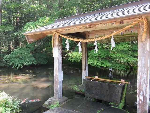 三夜沢赤城神社の手水舎