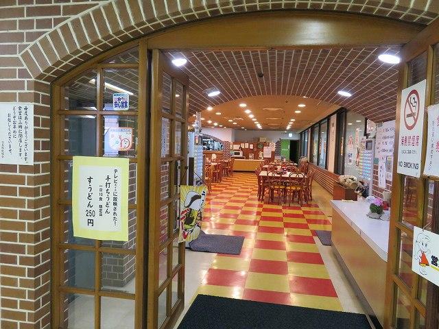 児島競艇場2階の食堂「サルビア」