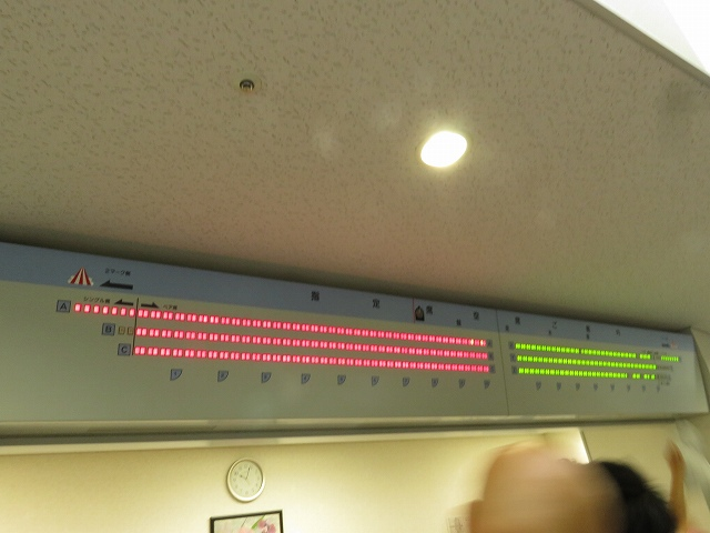 びわこ競艇場の指定席空席確認モニター