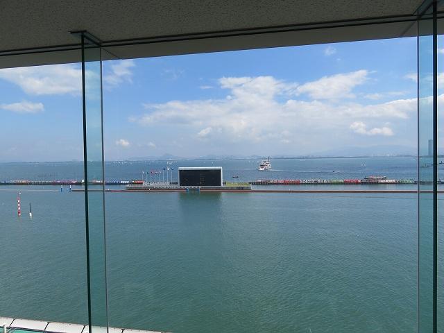 びわこ競艇場の4階指定席からの眺め