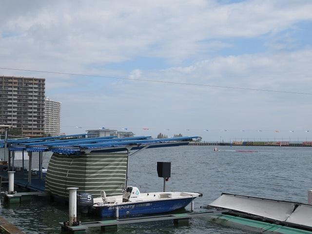 びわこ競艇場のピット