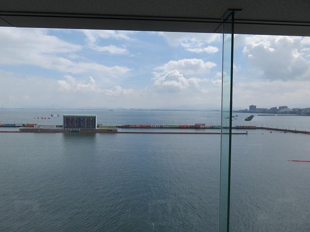 びわこ競艇場4階指定席からの眺め