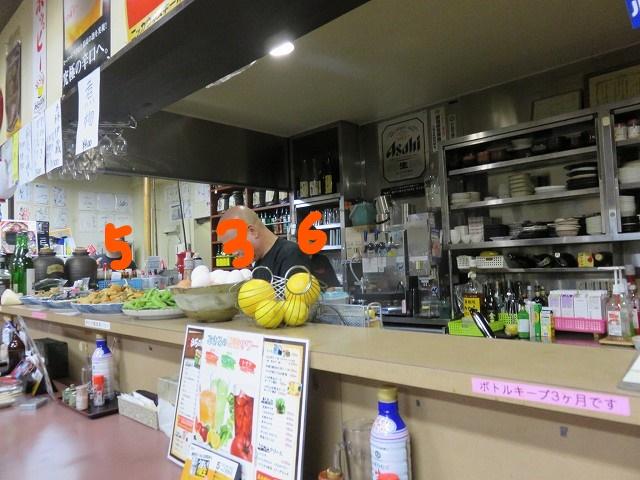 戸田公園駅近くの居酒屋「ごさろ」のカウンター