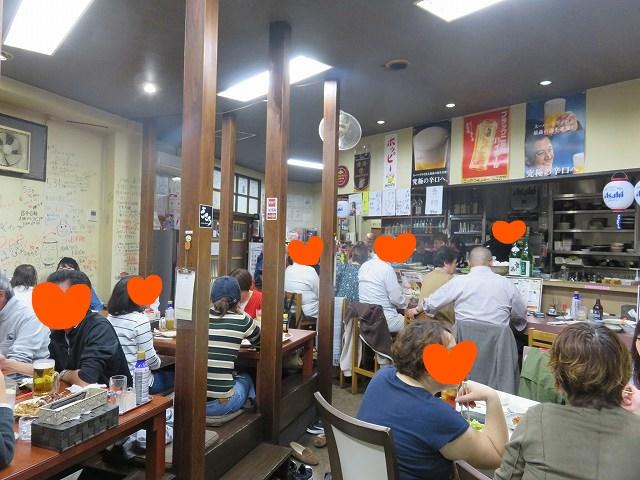 戸田公園駅近くの居酒屋「ごさろ」の店内のようす