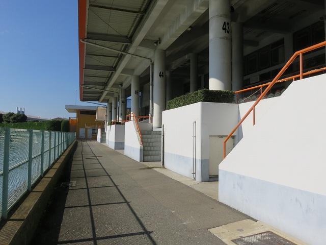 多摩川競艇場のスタンド1マーク側の奥