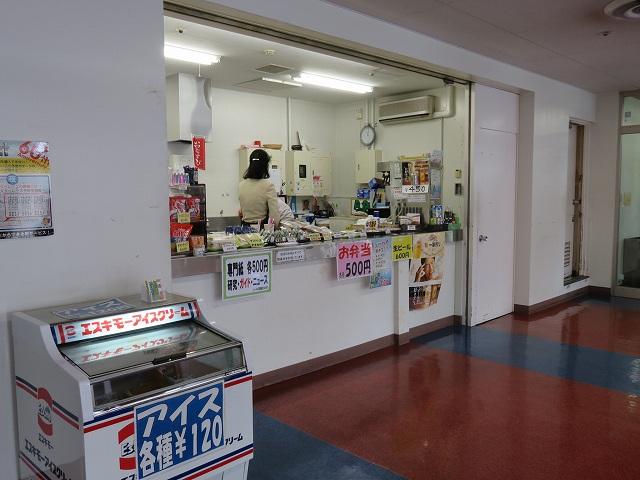 平和島競艇場4階指定席フロアの売店
