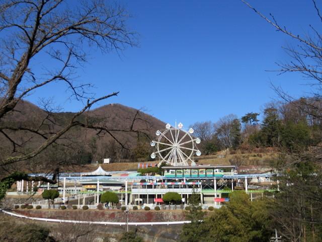 桐生が岡動物園から見た桐生が岡遊園地
