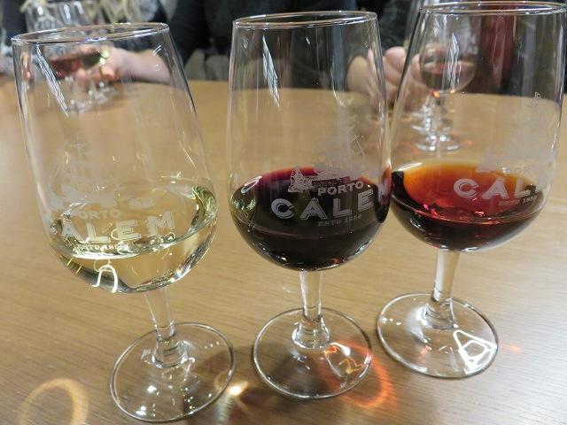 ポルトのカレムワイナリーの試飲3種類