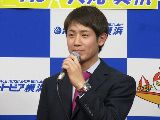 ボートピア横浜のトークショーでの関浩哉選手