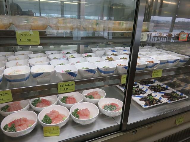 津競艇場3階の「味どころ御飯艇」のお惣菜