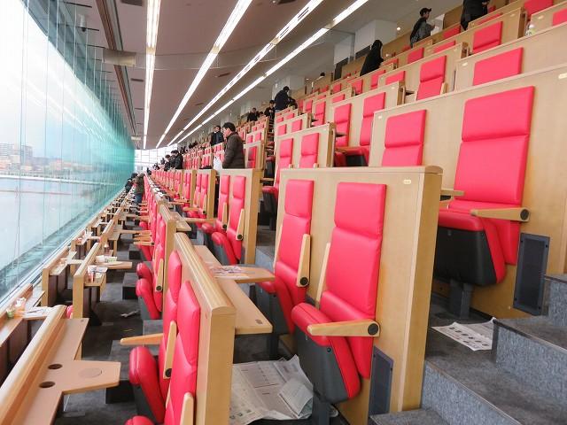 戸田競艇場の10段席の指定席