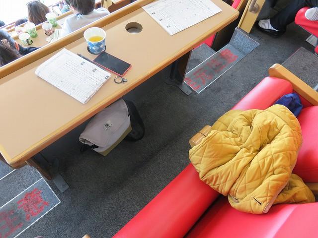 戸田競艇場の7段席の指定席