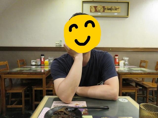 台南の「桃花源牛肉麺館」の店内