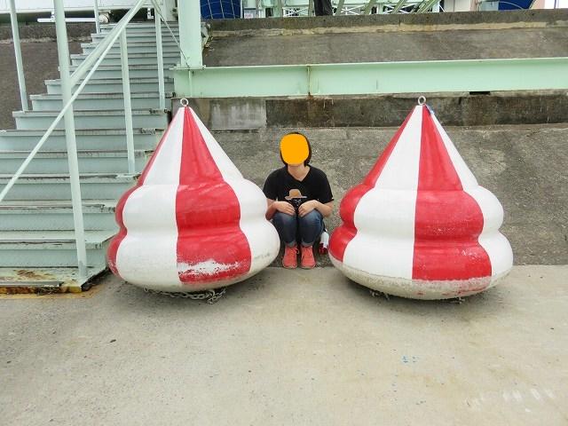 江戸川競艇場のピット内のようす