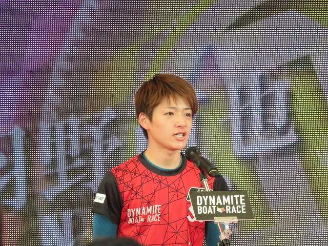 2019年多摩川SGグランドチャンピオン、オープニングセレモニーの羽野直也選手