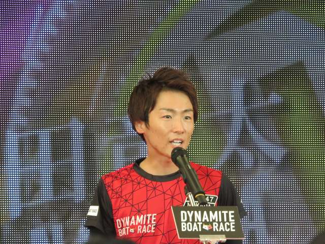 2019年多摩川SGグランドチャンピオン、オープニングセレモニーの中田竜太選手