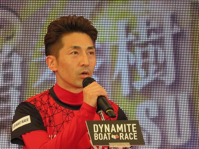 2019年多摩川SGグランドチャンピオン、オープニングセレモニーの徳増秀樹選手