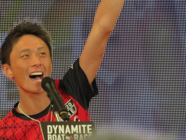 2019年多摩川SGグランドチャンピオン、オープニングセレモニーの峰竜太選手