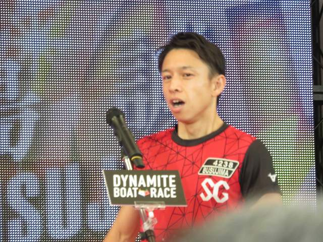 2019年多摩川SGグランドチャンピオン、オープニングセレモニーの毒島誠選手