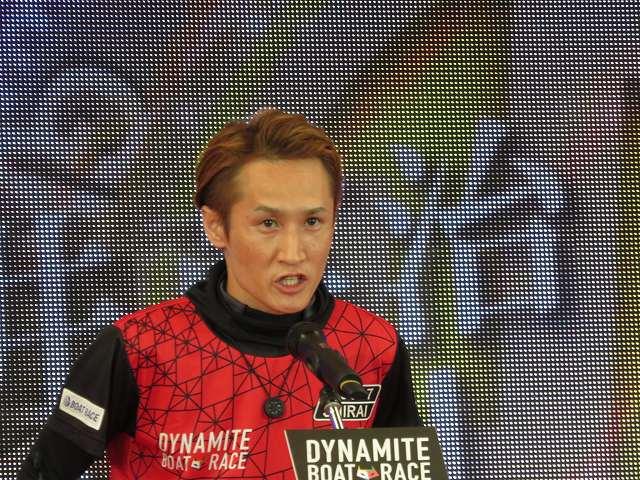 2019年多摩川SGグランドチャンピオン、オープニングセレモニーの白井英治選手
