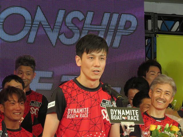 2019年多摩川SGグランドチャンピオン、オープニングセレモニーで選手宣誓する中野次郎選手