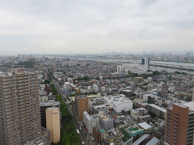 江戸川区の「タワーホール船堀」の展望台からの眺め