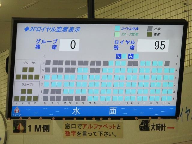 常滑競艇場のロイヤル席の席取り表