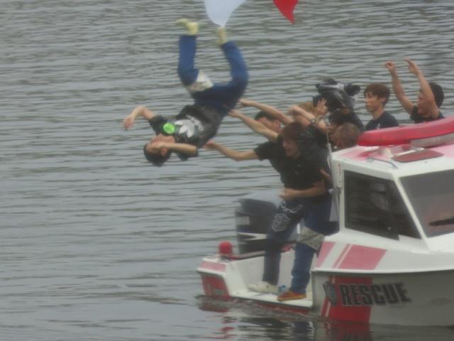 常滑競艇場のSGオーシャンカップで水神祭をあげる三重支部の松尾拓選手