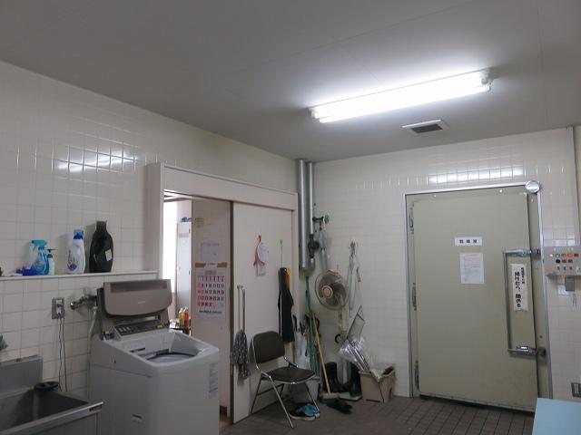 平和島競艇場のピット内にある洗濯部屋