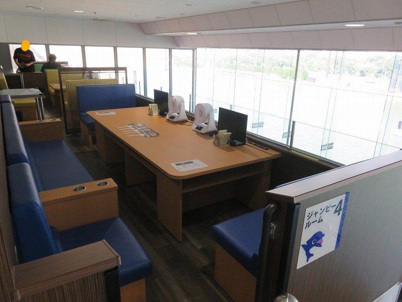 住之江競艇場の指定席・グループシートのジャンピールーム