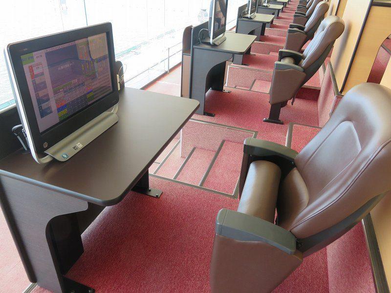 尼崎競艇場の5階有料席のシングルシート