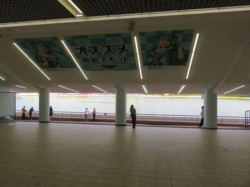 住之江競艇場の1階1マーク側「おすすめ観戦スポット」