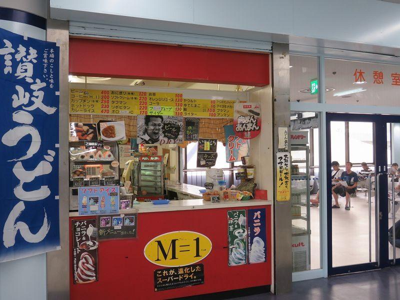 住之江競艇場の2階1マーク側にある売店