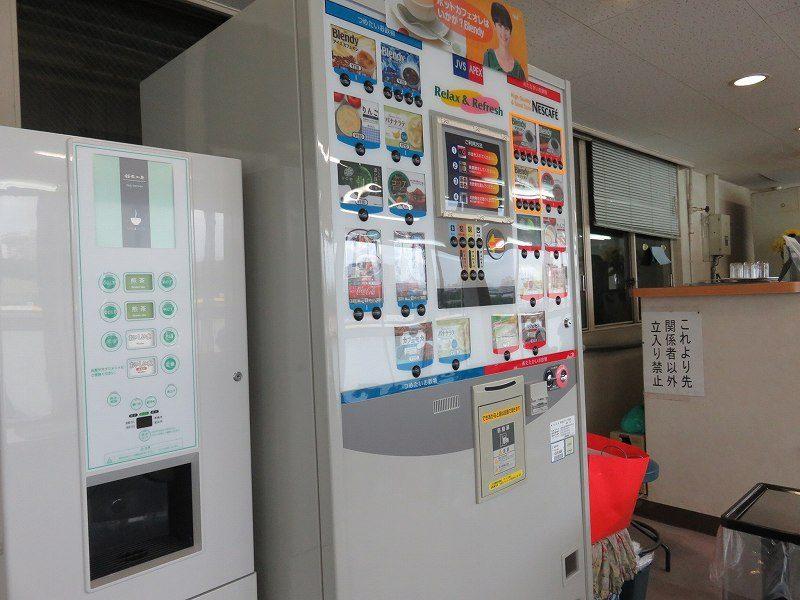住之江競艇場の1階「中央招待席」に設置されているドリンクの自販機
