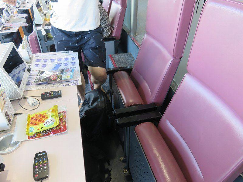 住之江競艇場の指定席・Aシートの座席