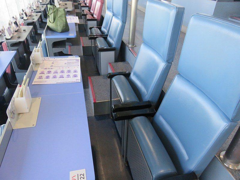 住之江競艇場の指定席・エコノミーシートの座席
