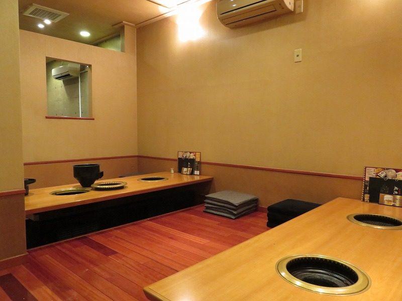 江戸川区松江の焼肉屋「成光苑」の座敷席