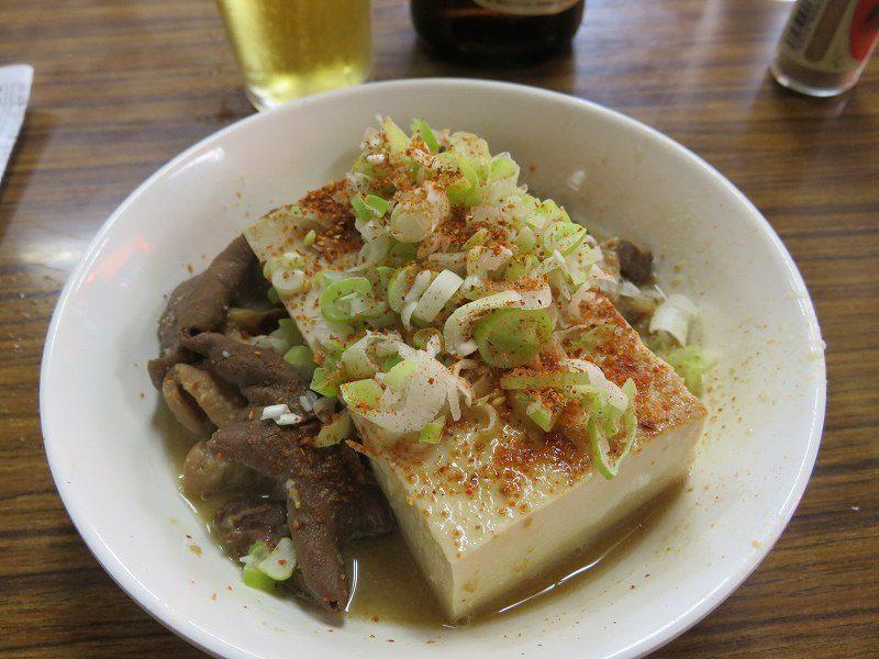 江戸川競艇場前の「大川原商店」の煮込み豆腐