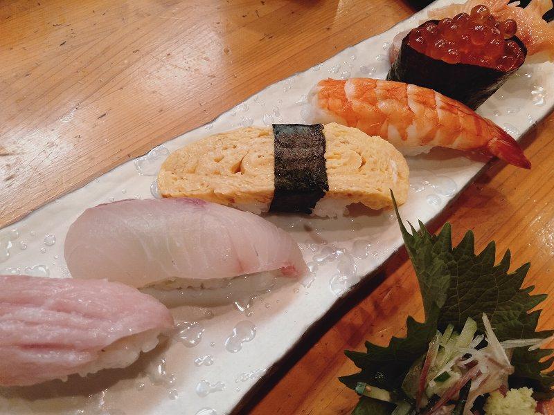 「鮨dining松雪」のにぎり鮨6カンセット