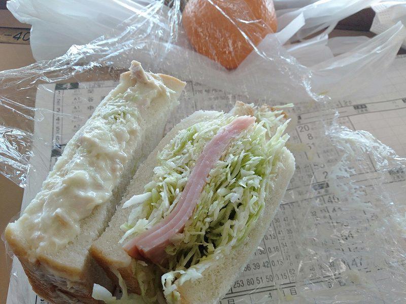 戸田競艇場の2階売店「ニューことぶき」のサンドイッチ