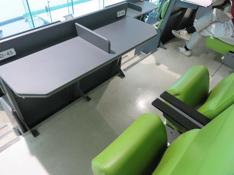 丸亀競艇場の指定席マリンシートのチェアー席