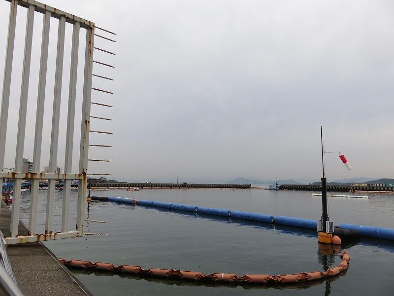 宮島競艇場のスタンド2マーク側から見た水面